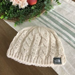 The North Face Cream Cable Beanie, New, Never Worn